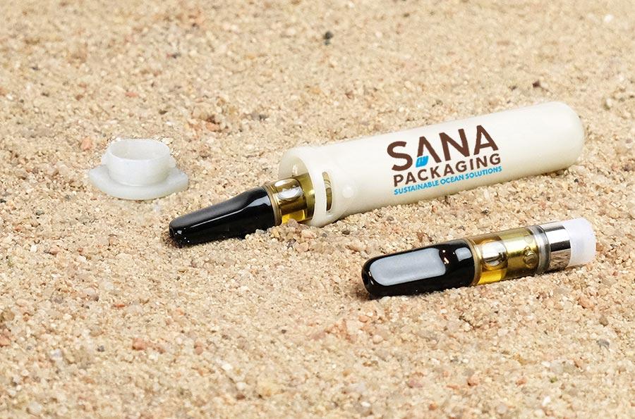reclaimed ocean plastic and hemp packaging